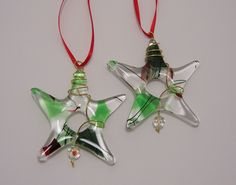 fused glass Christmas ornaments - Google Search