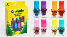 Crayola takes on beauty products... Crayon-inspired nail polish.