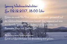 Lesung Weihnachtsgedichte 2.12.2017 http://derzuhoerer-berlin.de/weihnachtslichter-2017