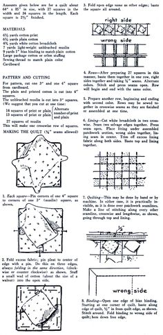 Vintage puffed quilt tutorial, for those, like me how don't have the clover puff quilt kit....