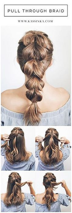 Introducing hair tutorials for shorter�hair! Braids�can help complete your look for any style. If you have medium thick hair then this style is perfect for you because your hair is the most easy to� #SimpleBraidedHairstyles #SimpleHair click for more info..