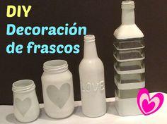 Frascos de vidrio decorados / Frascos decorados / Reciclando frascos