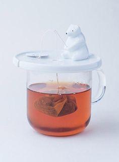 polar bear tea bag holder, kitchen accessories and unique gift ideas