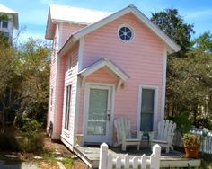 Tiny pink house in Santa Rosa Beach, FL.
