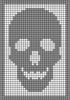 skull curtain crochet pattern - Google Search