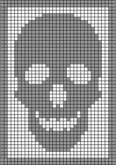 skull curtain crochet pattern - Google Search