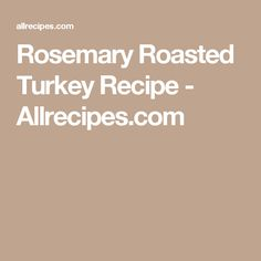 Rosemary Roasted Tur