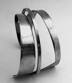Cuff bracelet | Phyllis Jacobs. Sterling silver. ca. 1950