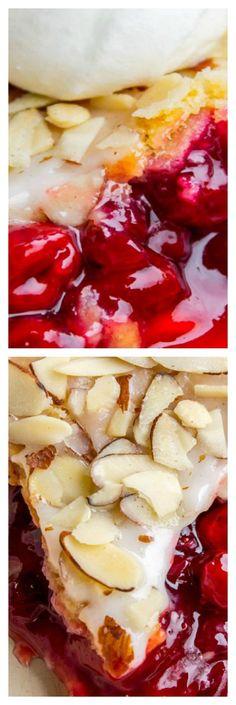 Cranberry Cherry Pie with Almond Glaze