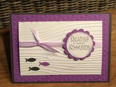 Einladungskarte Kommunion (198) von Sandelinchens Kartenzauber auf DaWanda.com