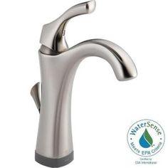 Delta Linden Single Hole Single-Handle Bathroom Faucet in Chrome ...