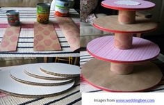 Happy Cake Stand + Circus Party Inspiration // Hostess with the Mostess® Here is another DIY project for you. This cake stand is truly ins...