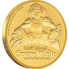 Snow White and the Seven Dwarfs Anniversary Gold Coin Gold Bullion Bars, Silver Bullion, Gold And Silver Coins, Silver Bars, Gold Coin Values, Ancient Roman Coins, Gold Money, Gold Stock, Gold Price