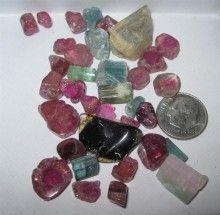 Tourmaline Mix 150 carats all Natural mostly San Diego z229 JerryBurkhartGemstones - http://www.sellergroup.com/shop/JerryBurkhartGemstones #sellergroup