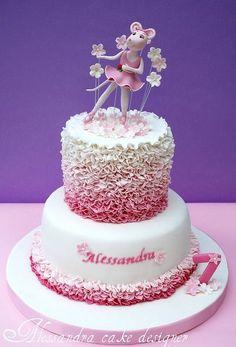 Angelina Ballerina Cake by Alessandra Cake Designer by babegotback