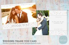 AW011 Wedding Thank You Card by Paper Lark  on @creativemarket