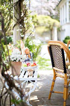 Paris style outdoor entertaining