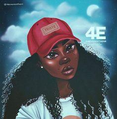 Triste Framed Art Print by - Vector Black - Black Love Art, Black Girl Art, Black Girls Rock, Black Is Beautiful, Black Girl Magic, Art Girl, African American Art, African Art, Black Girl Cartoon