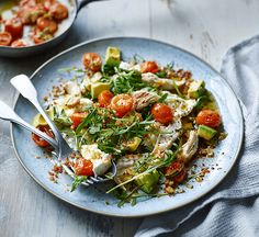 Try Joe Wicks' low carb chicken salad with mozzarella and a warm tomato dressing. It's a healthy crowdpleaser and easy to make ahead.