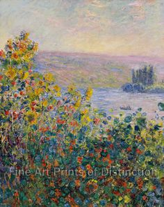 Flower Beds At Vetheuil By Claude Monet 1881 Framed Art Print by Chateau Partay - Vector Black - Art Gallery, Art Prints, Claude Monet, Custom Wall Art, Fine Art, Canvas Prints, Museum Of Fine Arts, Painting, Art