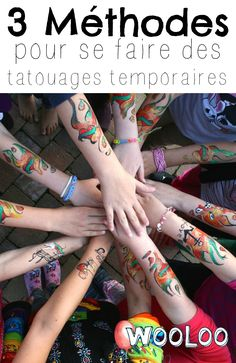 Voici 3 méthodes pour faire des tatouages temporaires DIY #enfants #diy #tattoo Diy Tattoo, Tatoos, Activities For Kids, Voici, Camping, Science, Building Tattoo, Tattoos, Temp Tattoo