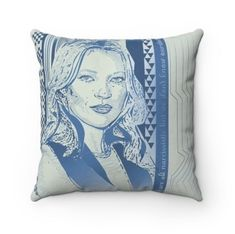 The picture of Kate Moss is a metaphor for a rock and roll attitude, but the soft colours and typical repeat pattern make the whole concept a bit subversive. To add to the provocative note, I've added a strapline - We are narcissistic, but we don't know ourselves. I'm not entirely sure what it means, but that's the whole point, as it gives someone a little puzzle to work out in the head. It made me smile, and I hope it makes the viewer smile too. #katemossart #katemosspattern #patterndesigner # Soft Colors, Colours, Moss Fashion, Cushions For Sale, Boy Art, Kate Moss, Repeating Patterns, Art Studios, Pattern Making