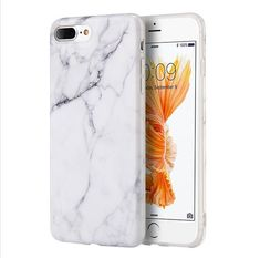 iPhone 8 Plus Case, iPhone 7 Plus Case, by Insten Marble Rubber TPU Case Cover For Apple iPhone 7 Plus Image 1 of 6