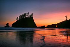 La Push in Forks, WA ~ Second Beach at La Push is about 12 miles from the town of Forks, follow a mile long trail from Quileute Needles National wildlife Refuge.