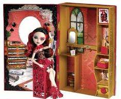 Ever After High Lizzie Hearts Spring Unsprung Book Playset (EAH playsets are so amazing! Ever After High, Barbie 80s, Barbie Dolls, Lizzie Hearts, Mattel Shop, White Blood Cell Count, Princess Games, Ever After Dolls, Disney And More