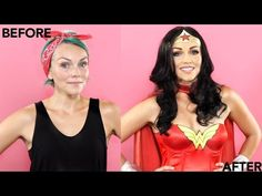 Tutorial on Wonder Woman Makeup Look by Vanessa Lopez. Check out more Makeup on Bellashoot. Halloween Looks, Family Halloween Costumes, Cool Costumes, Halloween Makeup, Halloween Party, Costume Ideas, Halloween Ideas, Happy Halloween, Wonder Woman Makeup