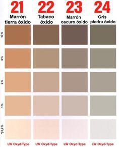 Paleta de colores tierra