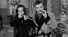 Morticia and Gomez (The Addams Family) The Addams Family 1964, Addams Family Tv Show, Adams Family, Morticia Adams, Gomez And Morticia, John Astin, Charles Addams, Carolyn Jones, The Rocky Horror Picture Show