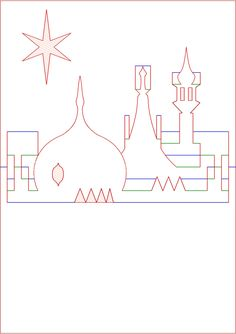 Kirigami Diagram Pop Up Card Prince Regent Royal Brighton Pavilion Rooftop Skyline   by Dominic's pics