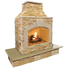 Ready to go outdoor fireplace for placement on wood decking! CalFlame FRP909 Outdoor Fireplace