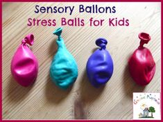 Sensory Balloons | Toddler Stress Balls - these will be great for niece whom is autistic.