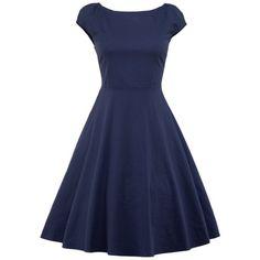 Knee Length Puffer Dress - PURPLISH BLUE M
