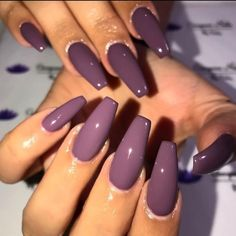 Nail art is a very popular trend these days and every woman you meet seems to have beautiful nails. It used to be that women would just go get a manicure or pedicure to get their nails trimmed and shaped with just a few coats of plain nail polish. Purple Nail Art, Purple Nail Polish, Polish Nails, Plum Nails, Purple Manicure, Dnd Gel Polish, Light Purple Nails, Violet Nails, Ombre Nail