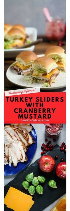 Baked turkey sliders with cranberry mustard will make easy work of your Thanksgiving leftovers | #recipe