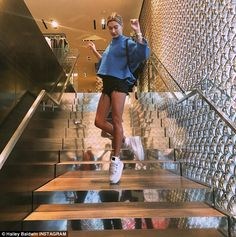 Cool kicks: Hailey shared an Instagram post from the day, showing off…