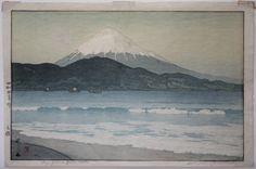 Japanese Woodblock Print Hiroshi Yoshida Mt. Fuji Miho