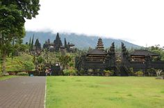 The Besakih Temple is a complex of temples that is located in the hillside of Agung Mountain in 1000 m above the sea level. Located in Besakih village, Karangasem, Bali Island,