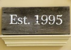 DIY wood sign.  Reclaimed wood or stain new.
