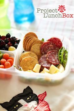 Project Lunch Box. DIY homemade, healthy Lunchables for school, work &
