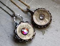Personalized Shotgun Shell Necklace Direct Link http://shelbilavender.com/necklaces-2/7025006647_7b69e552c4-1/