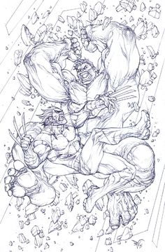 #Hulk #Fan #Art. (Hulk Vs Wolverine) By: Paolo Pantalena. (THE * 5 * STÅR * ÅWARD * OF: * AW YEAH, IT'S MAJOR ÅWESOMENESS!!!™)[THANK Ü 4 PINNING!!!<·><]<©>ÅÅÅ+(OB4E)
