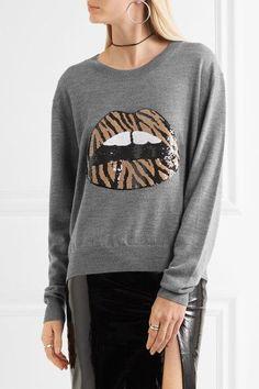 Markus Lupfer - Lara Sequin-embellished Wool Sweater - Gray - x small
