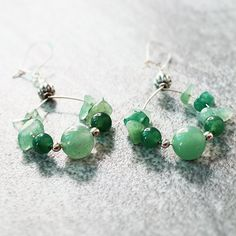 Emerald Green Quartz and Aventurine Sterling by TorikaEnergetics, $15.00