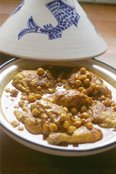 Moroccan Chicken and chickpea Tagine recipe