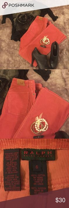 🍏🍎🍏Ralph Lauren🍏🍎🍏Orange Cord Pants Ready for fall in these cute pants, perfect for this season and match up with so many different colors.  Super cute! Ralph Lauren Pants Boot Cut & Flare