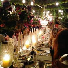 SAMANTHA WILLS - Yellowglen Peacock Lane by SW // www.peacocklane.com; Bohemian Luxury Wine Sparkling Champagne Celebrations Outdoor Dining Blooms Decadent Table Setting Moonlit Fairy Lights Twilight
